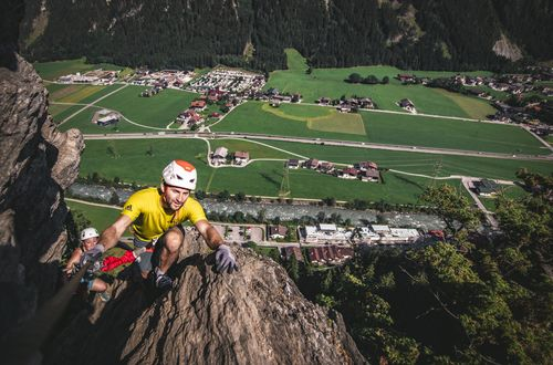 Via ferrata route in summer ©Dominic Ebenbichler (Archiv TVB Mayrhofen)