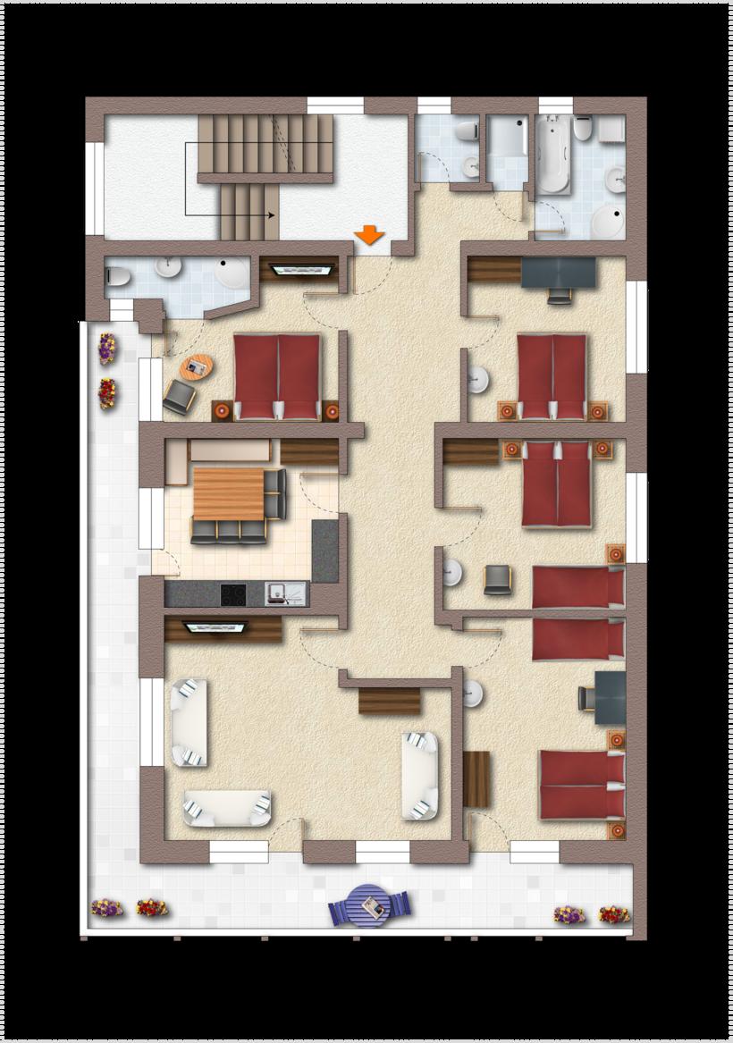 Grundriss Top 3 ©Fiechtl Apartments
